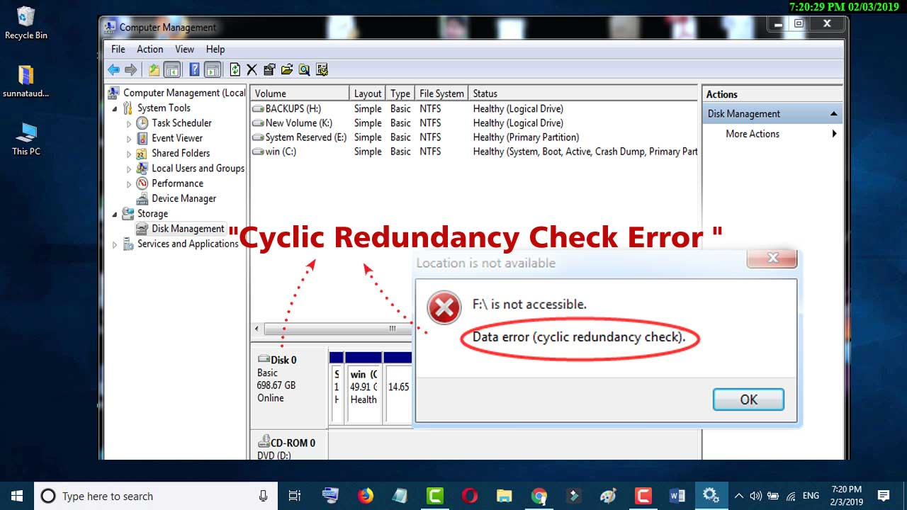 Cyclic Redundancy Check Error